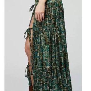 Free People Esmeralda long maxi skirt boho wander